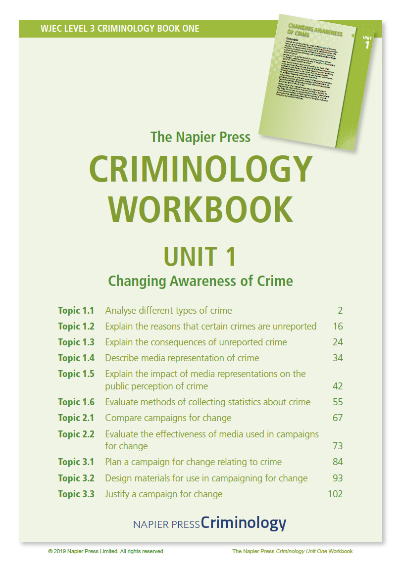 Criminology Workbook Unit 1