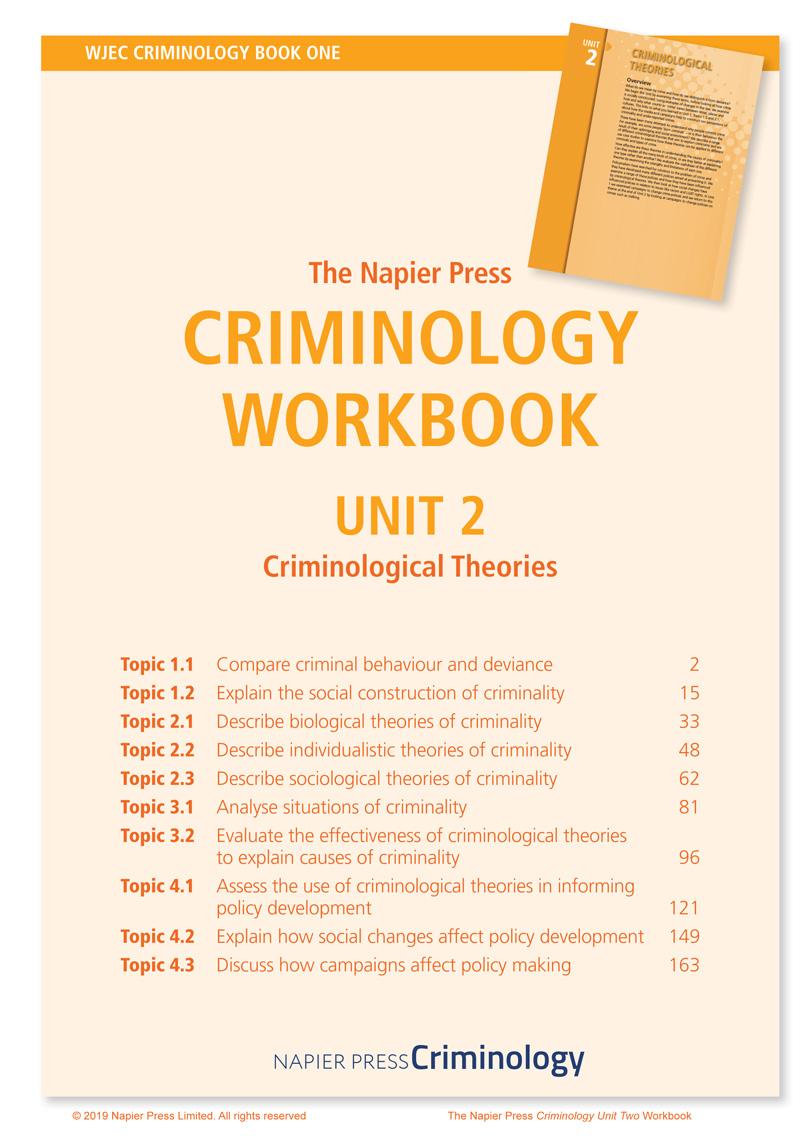 Criminology Book 1 Unit 2